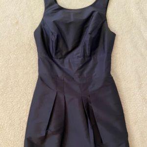 Knee Length Navy Cocktail Dress